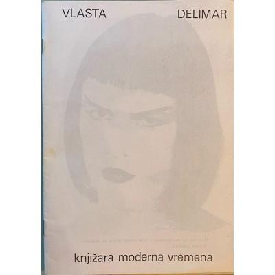 """0168.  Vlasta Delimar , knjižara """"Moderna vremena"""" , 1990. Zagreb"""