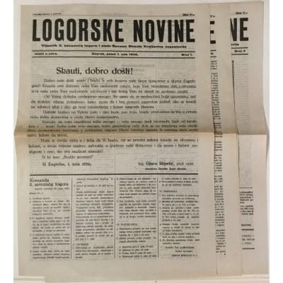0222.  Logorske novine, broj: 1, 2 i 3, 1932.