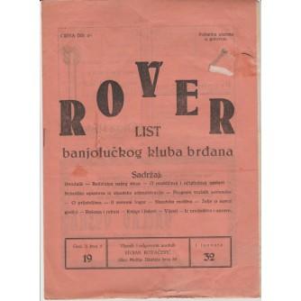0223.  Rover- list banjolučkog kluba brđana, 1932.