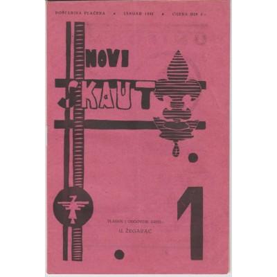 0219.  Novi skaut, year III. number  1, 1932. Zagreb