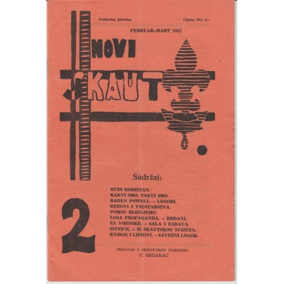 0218.  Novi skaut, year III. number  2, 1932. Zagreb