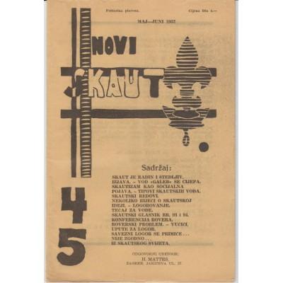 0217.  Novi skaut, year III. number  4- 5, 1932. Zagreb
