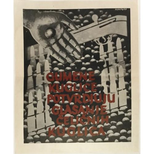 0200. Gumene kuglice potvrdjuju glasanje čeličnih kuglica - poster