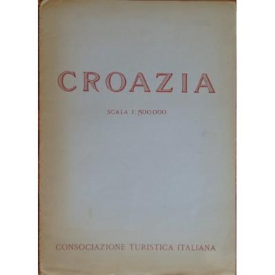 """0256. Zemljopisna karta """"Croazia"""" scala (mjerilo) 1: 500 000,"""