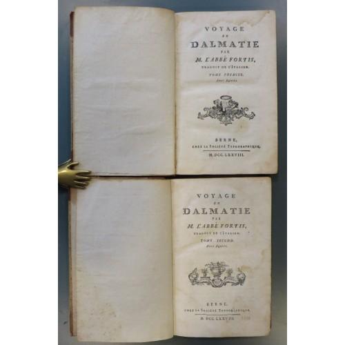 0004. Alberto Fortis: Voyage en Dalmatie I-II