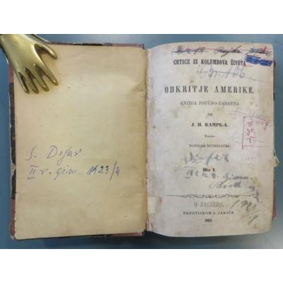 0035. Joachim Heinrich Kampe: Odkritje Amerike, knjiga poučno-zabavna 1-3