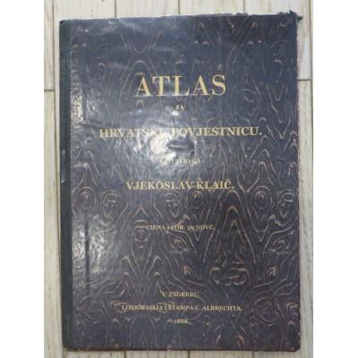 0053. Vjekoslav Klaić: Atlas za Hrvatsku povjestnicu