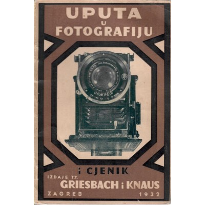 0234. Ljudevit Griesbach: Uputa u fotografiju sa cjenikom
