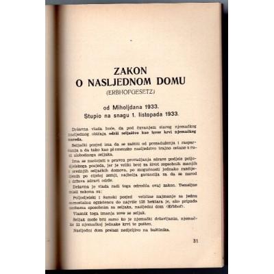 0180. Stjepan Buć:  Njemački zakon o seljačkom nasljednom domu