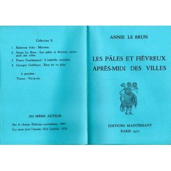 0095. Annie Le Brun: Les pâles et fiévreux apr`es-midi des villes