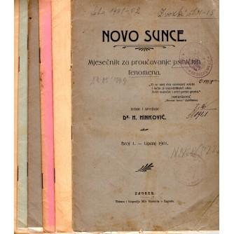 0072. Novo sunce – mjesečnik za proučavanje psihičkih fenomena (broj 1-7 / godina 1