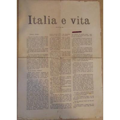 0035. Gabriele D'annunzio: Italia e vita – 24. listopada 1919 (letak – proglas) . Fiume