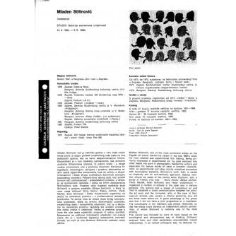0069. Mladen Stilinović: Instalacija, plakat