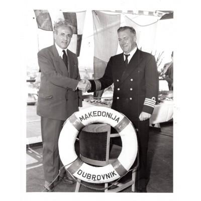 "0075. Foto album – ""Yugoslav motorship Makedonija maiden voyage – Port of New York jul . 25. 1950"" Goldsmith bros."